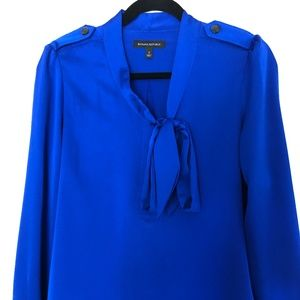 Banana Republic Cobalt Blue Blouse